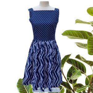 Bea & Dot ModCloth Blue Polkadot Dress size small